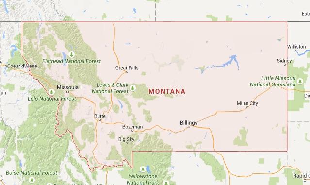 kaart Montana