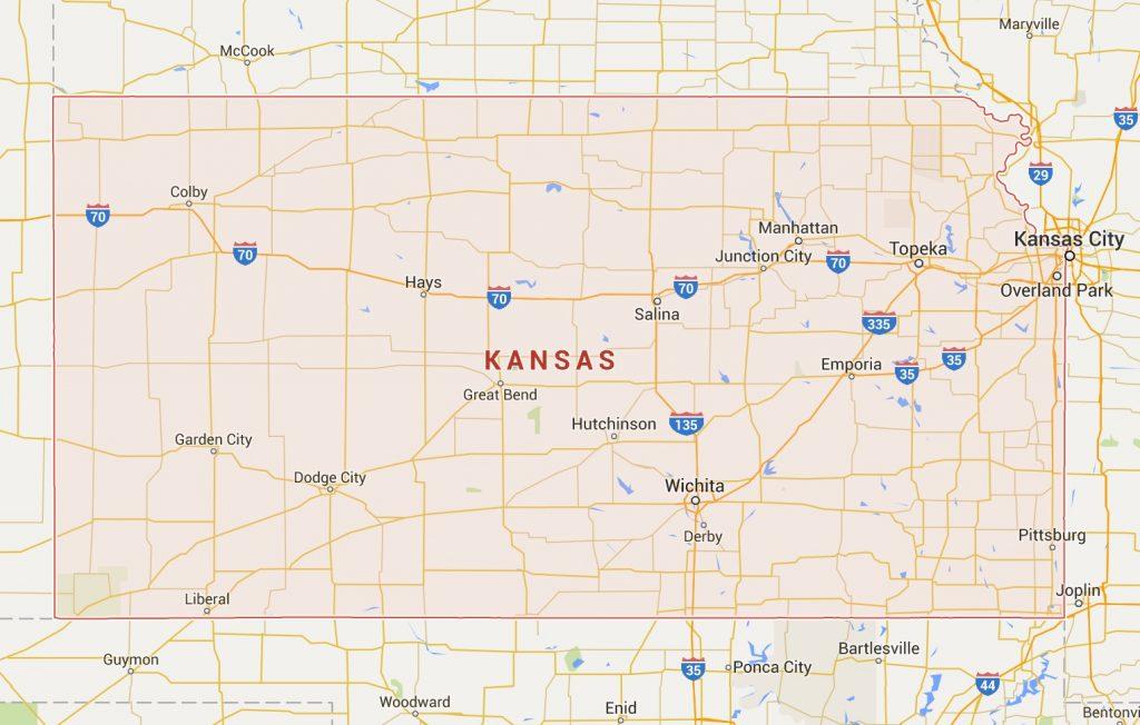 kaart Kansas